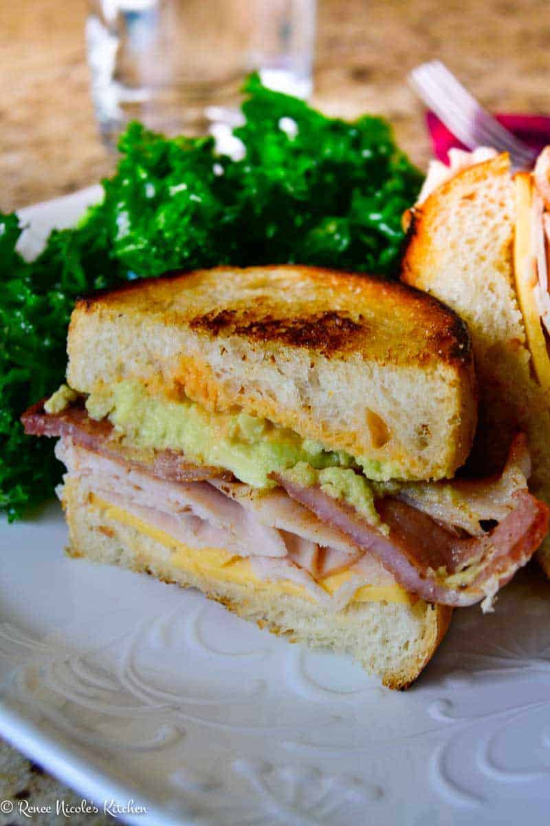 Turkey Avocado Club Sandwich-5