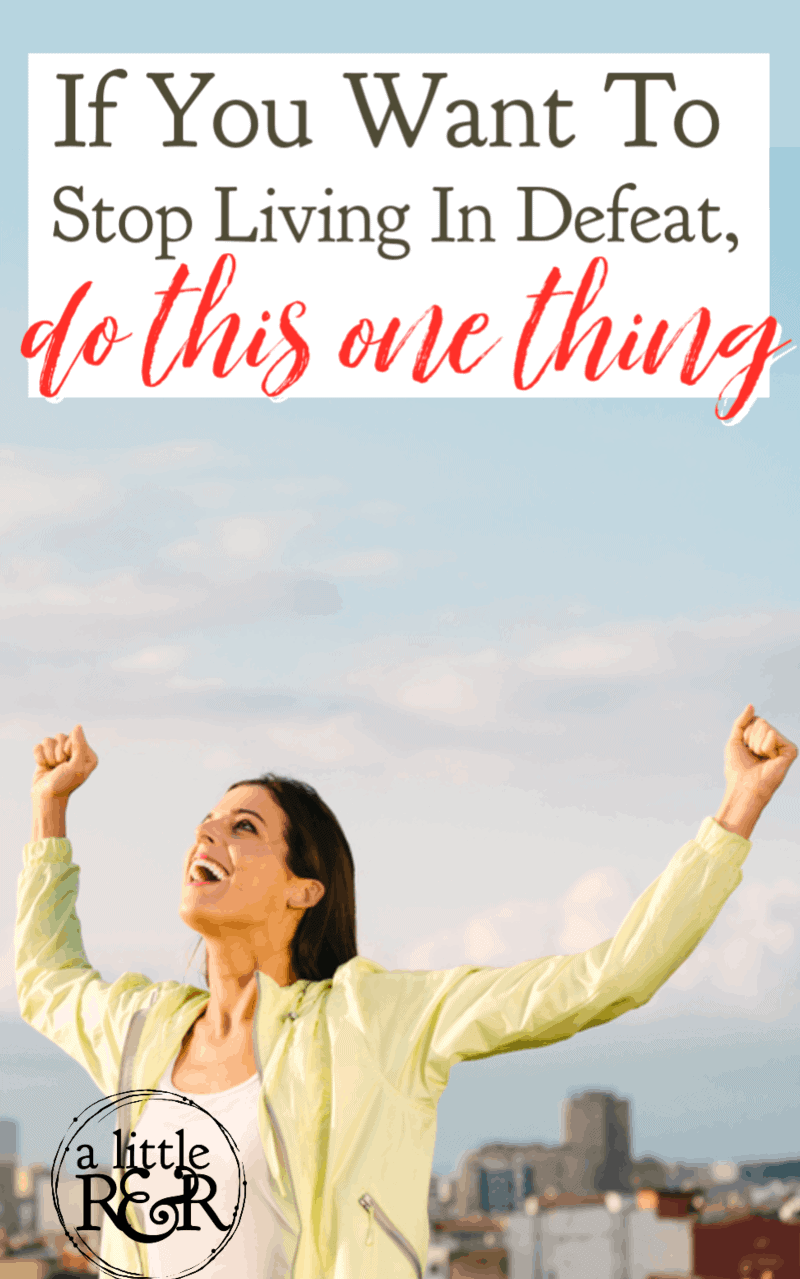 If you want to stop living in defeat as a Christian and start living in total victory and blessing, you need to do this one thing. #alittlerandr #onlineBiblestudy #victory #blessing