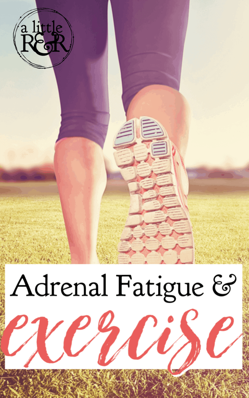 Exercising and adrenal fatigue are a tricky pair. At some point in your adrenal fatigue recovery, you will need to begin exercising...but not too much. Here's why. #alittlerandr #adrenalfatigue #stress #exercise #chronicfatigue