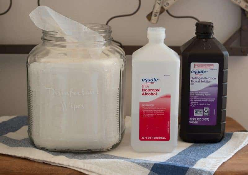 Homemade Disinfectant Wipes ingredients