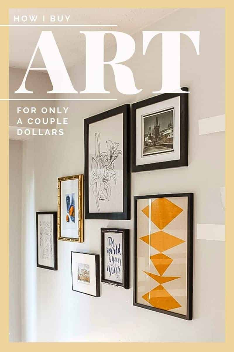 How to buy and print art to fill a gallery wall for only a couple dollars! My secret source for artwork and keeping it under budget. #budgetdecor #art #gallerywall #homedecor #etsy