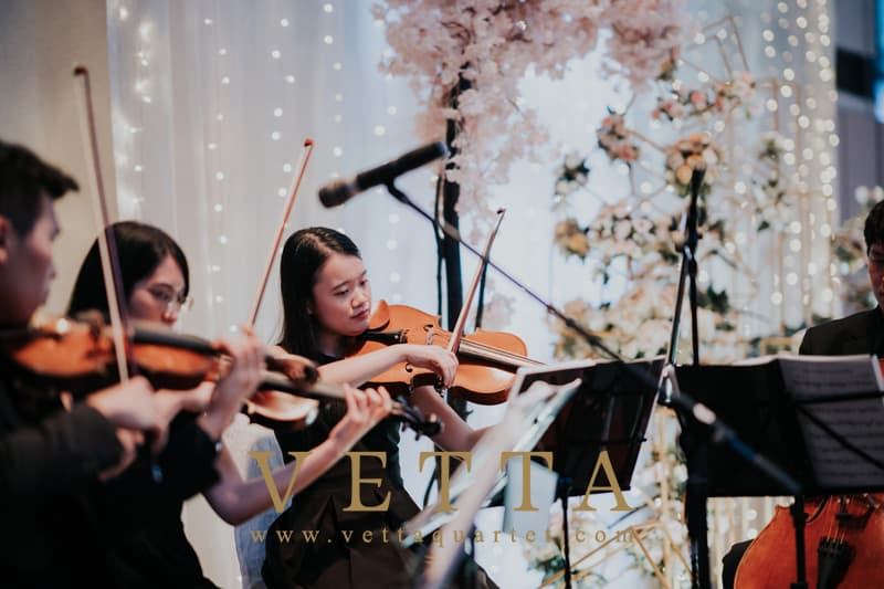 String Quartet for Wedding Banquet at Marriott Singapore