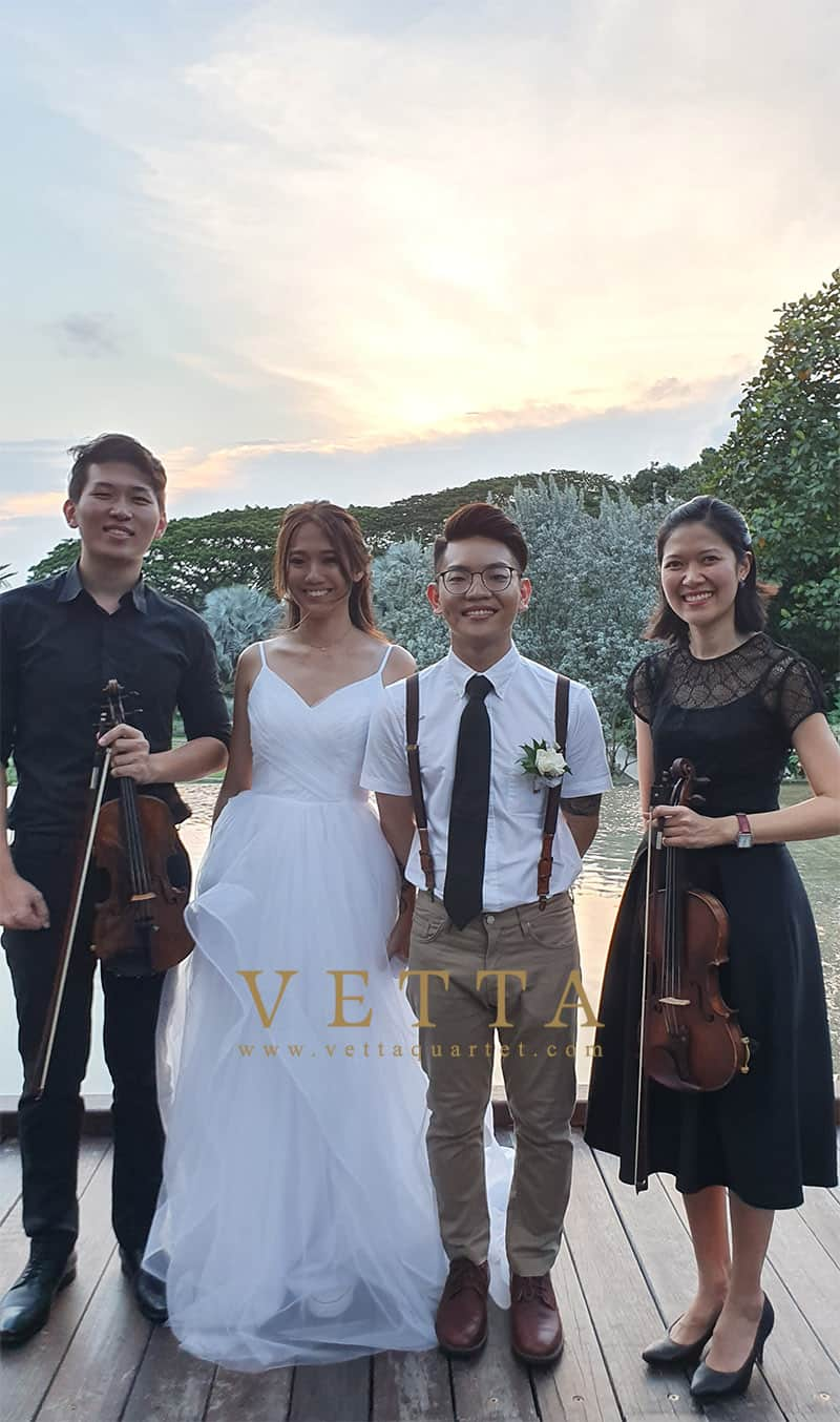 Violin Duo for Wedding at HortPark