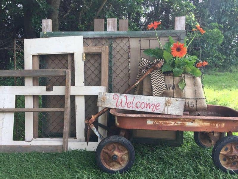 Vintage market at Tenth Street Orchard in Sterling