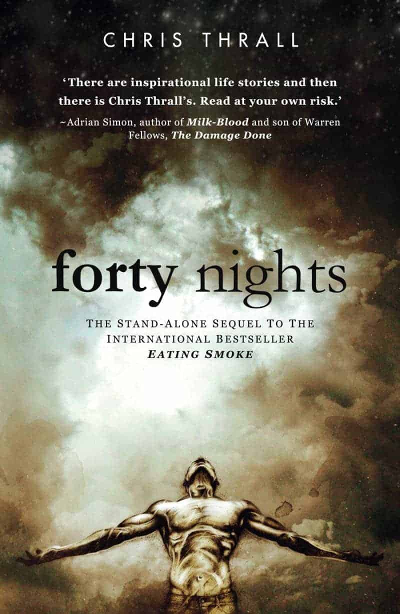 Book cover image - Forty Nights, by Chris Thrall