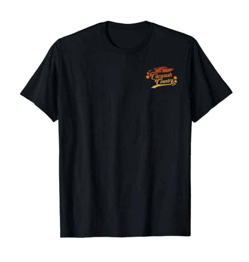 carwash country california sunset detailing t shirt front