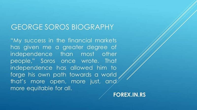 My success in the financial markets has given me a greater degree of independence than most other people