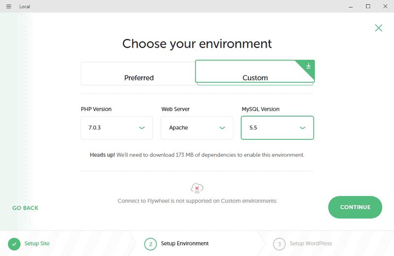 Configurando tu primer sitio con Local: propiedades de entorno