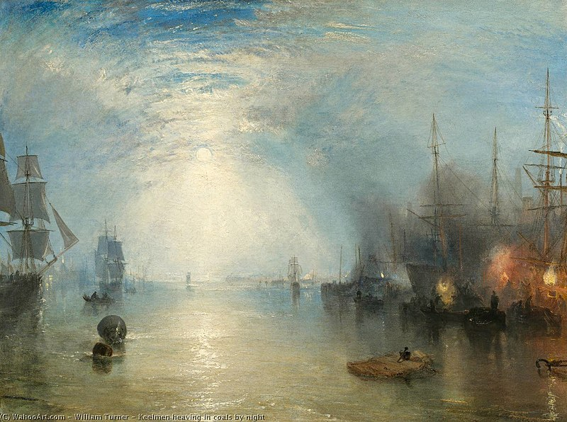 Keelmen Billowing in Coals at Night von William Turner