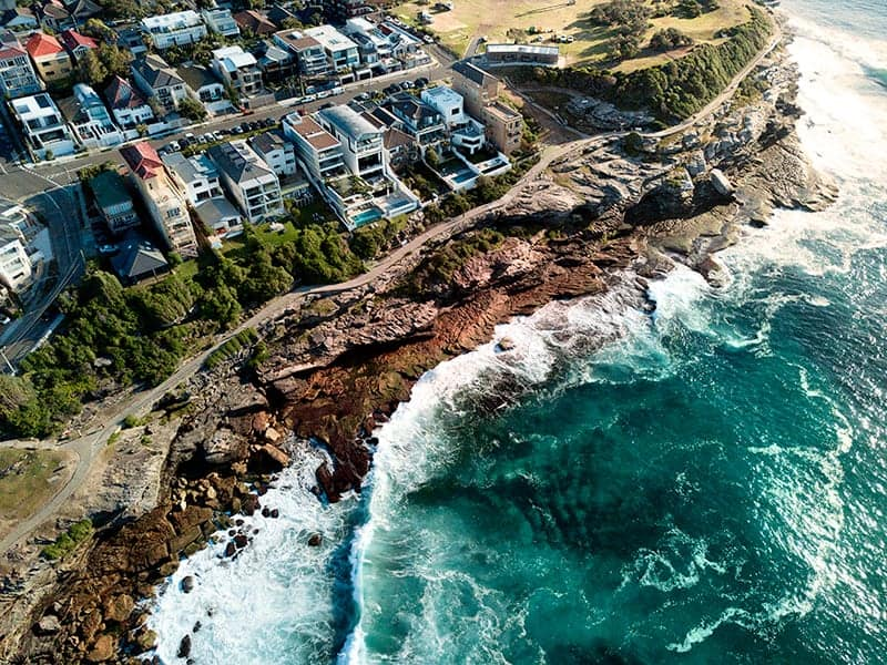 Aerial Photo of Bronte NSW