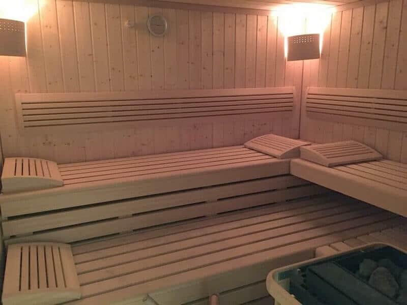 Kostenlose großzügige Sauna in der Villa Seeblick Binz