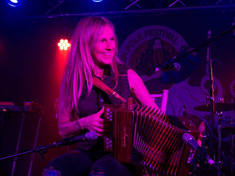Sharon Shannon performing at the Doolin Folk Festival 2017 - The Irish Place