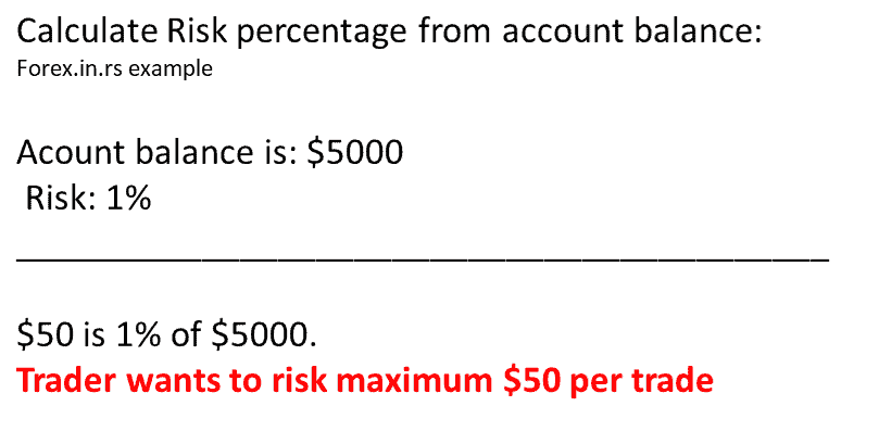 Calculate risk percentage - forex lot size formula