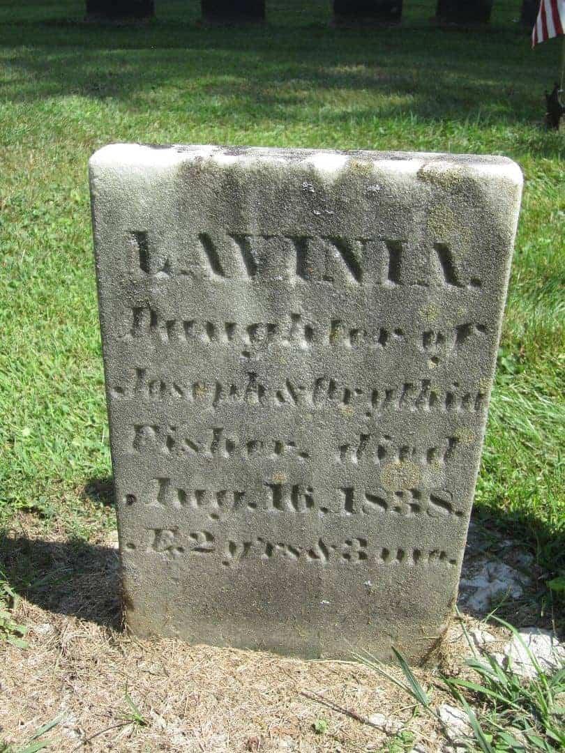 Lavinia's Gravestone. Ghosts of Charleston walking tour