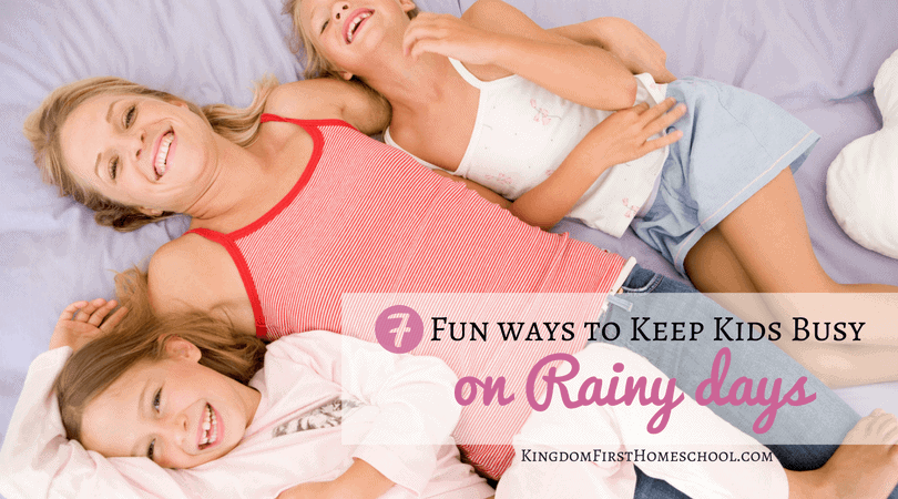 "It's raining again and your kids have begun the chorus of ""I'm bored"" Here are 7 fun ways to keep kids busy on rainy days."