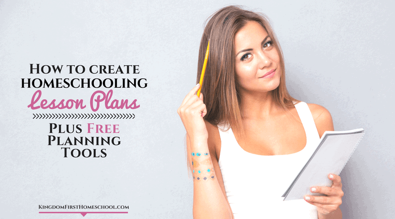 How to create homeschooling lesson plans - plus free planning tools