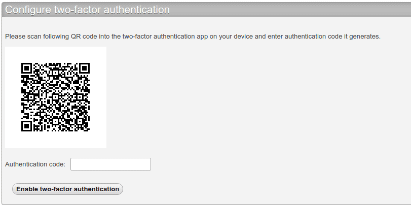 Enable Two-Factor Authentication-setup