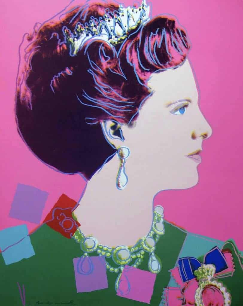 Andy Warhol, Reigning Queens: Queen Margrethe II of Denmark, 1985