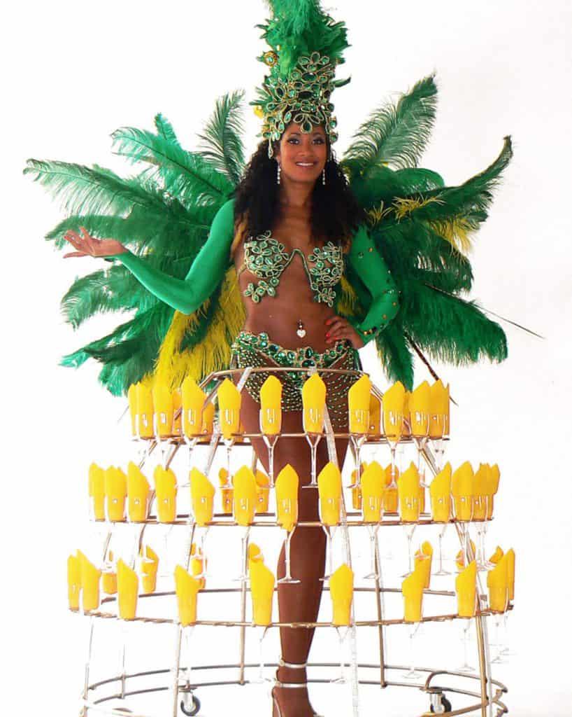 robe à champagne, thème Brésil