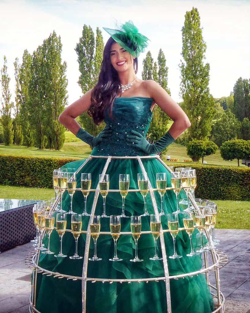 robe a champagne, robe verte, thème Nature