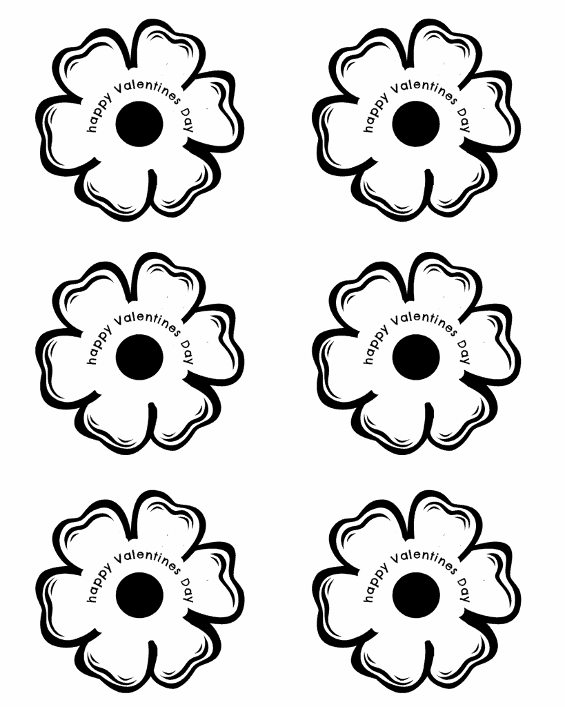free lollipop flower printable