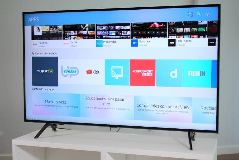 Menú de apps Samsung Smart TV Tizen OS