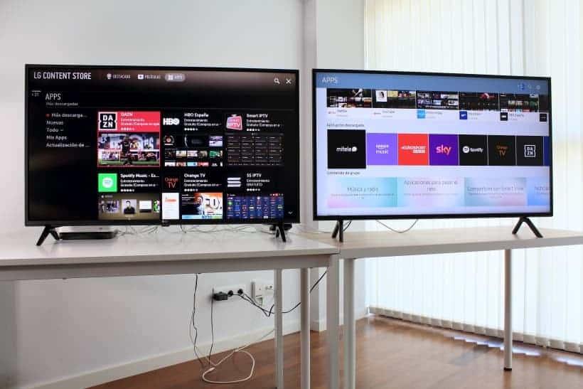 Smart TV LG UM7100 y Samsung RU7105 comparativa