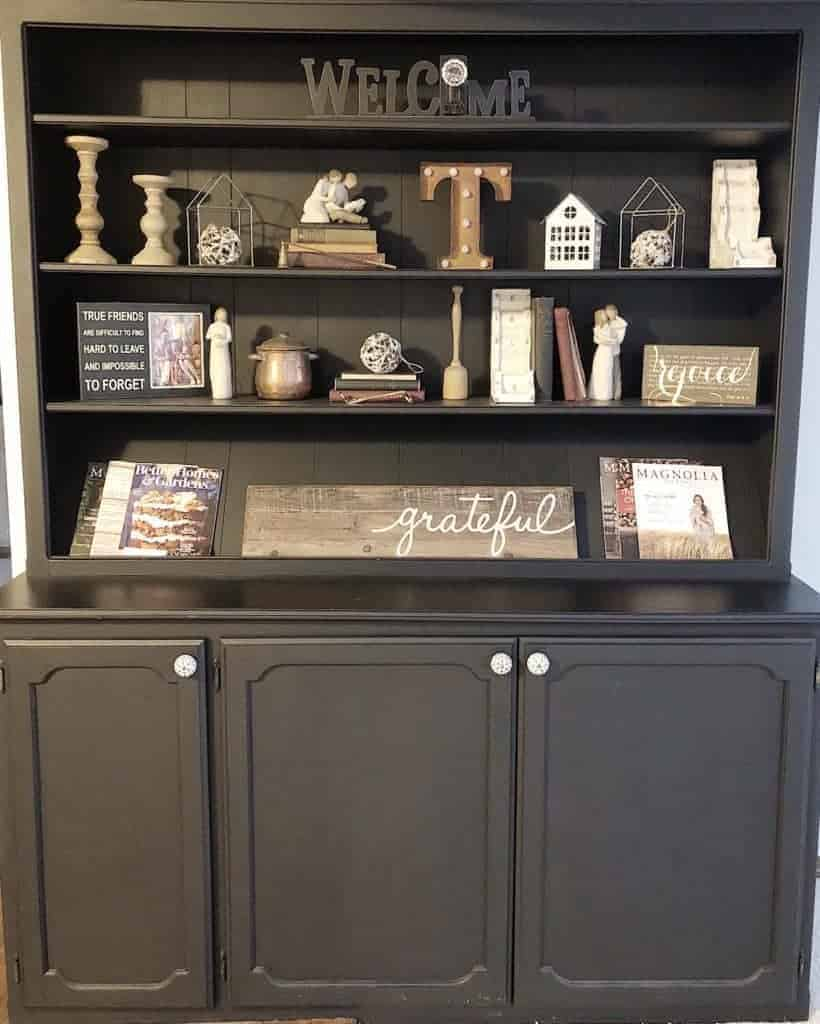 Valspar Furniture Paint with built in hutch