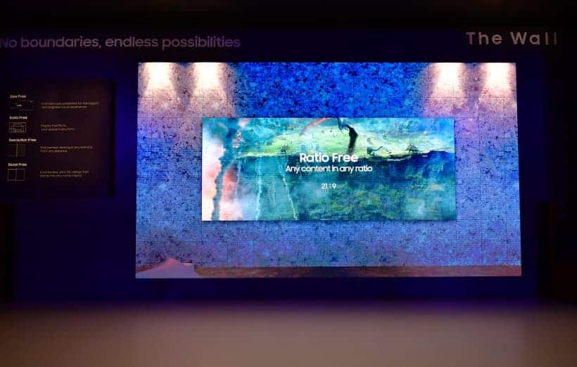 Samsung MicroLED The Wall CES 2019