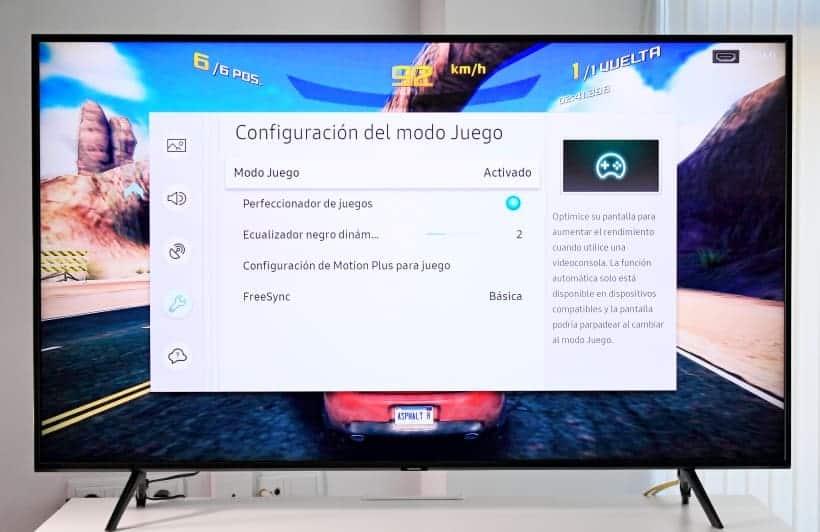 Configuración del modo juegos en Samsung Q60R