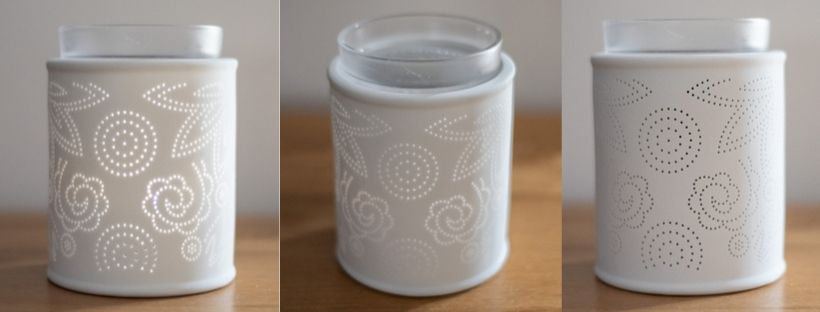 Scentsy Pinhole Paisley Warmer - From different angles