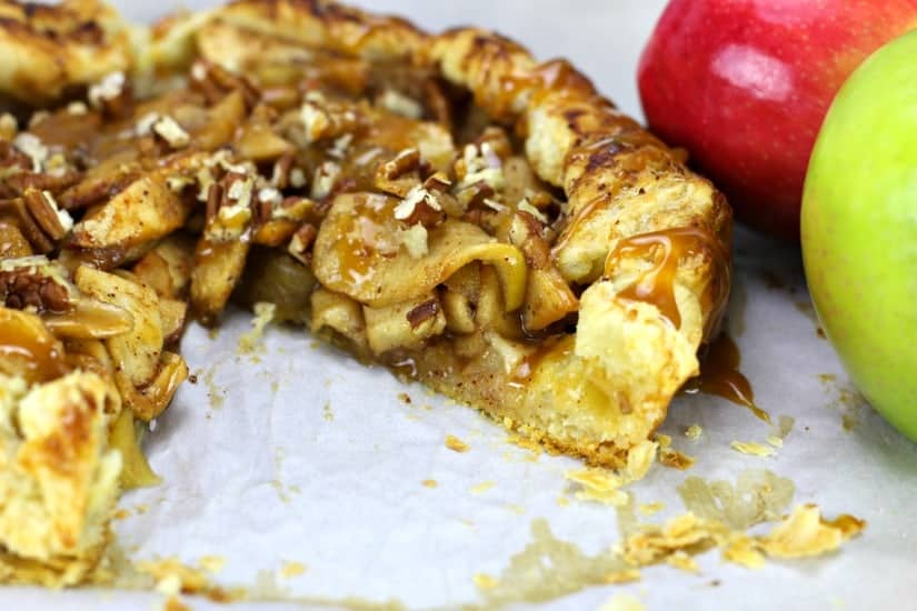 Easy Caramel Apple Puff Pastry Galette