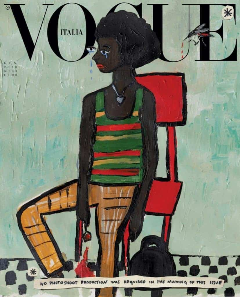 Cassi Namoda, Cover of Vogue Italia, January 2020