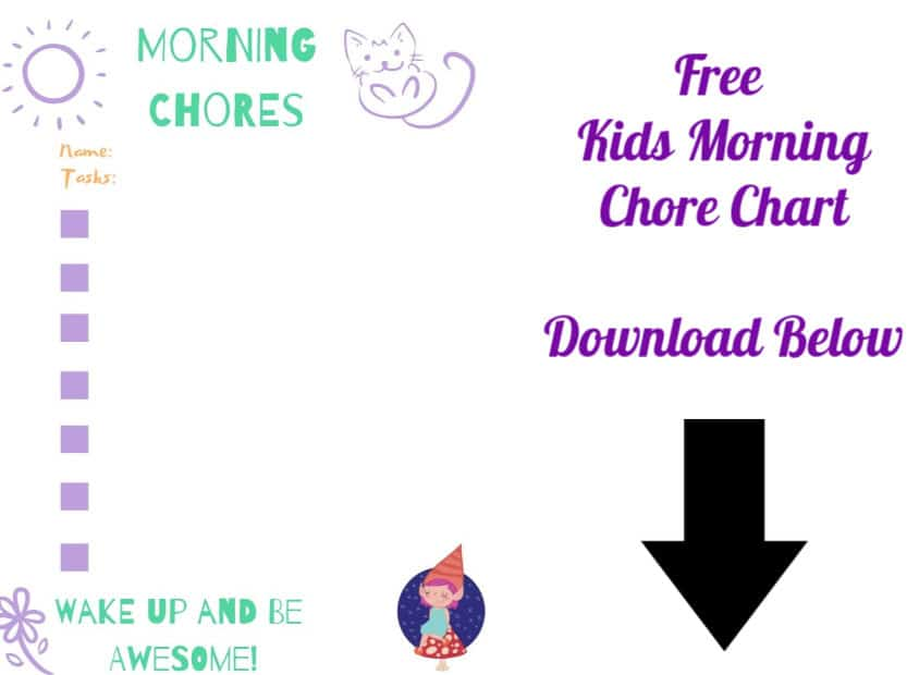 kids morning chore chart