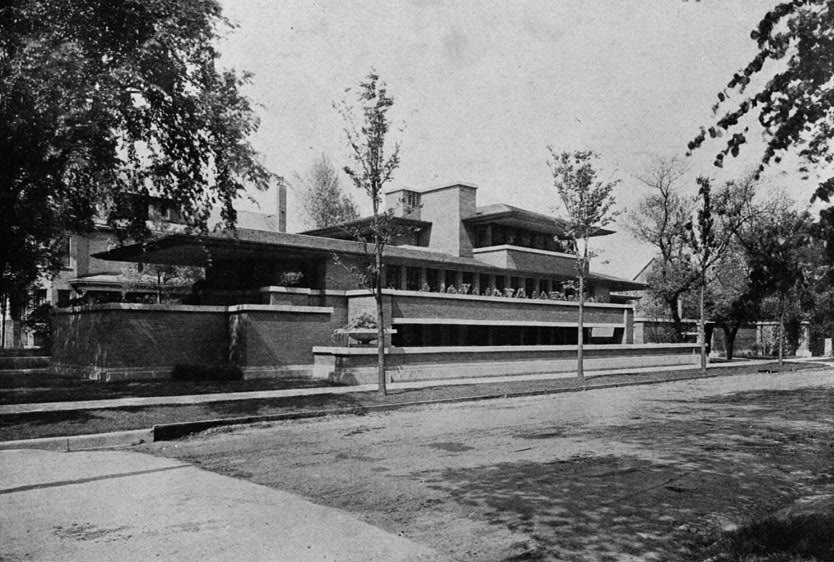 Frederick Robie House by Frank Lloyd Wright, Chicago, Illinois, 1911.