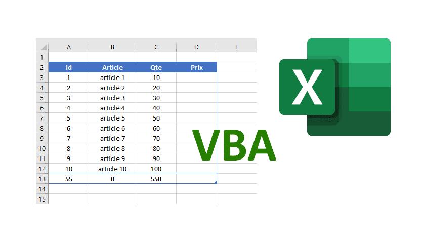 5 techniques pour manipuler les tableaux Excel en VBA