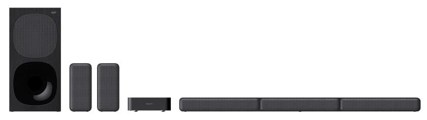 Barra de sonido 5.1 Sony HT-S40R con altavoces traseros inalámbricos