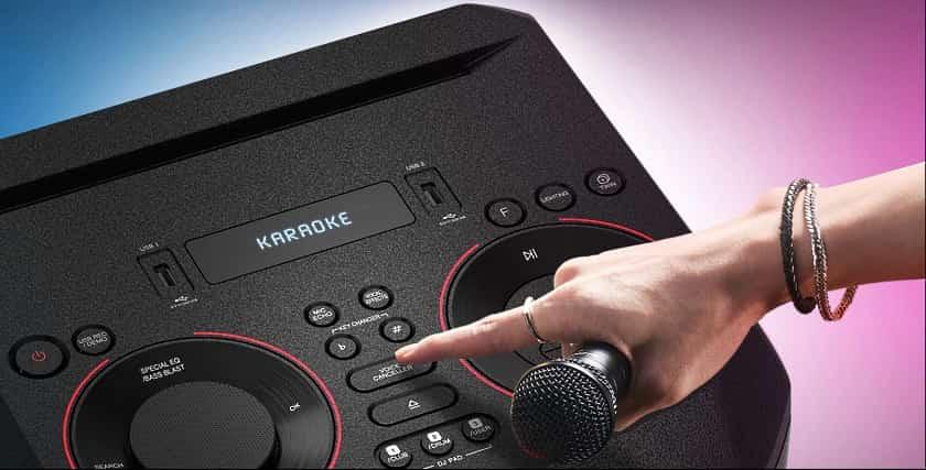 Función karaoke LG RN5 gama XBOOM