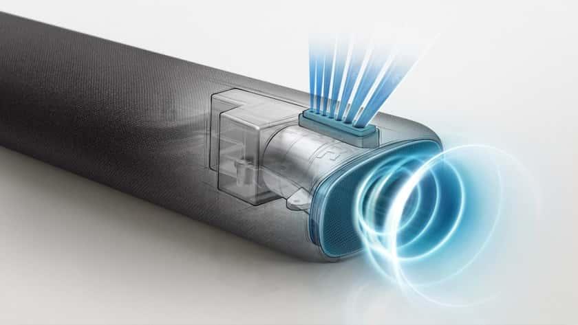 Bocinas de cuernos y Acosutic Beam barra de sonido S60T