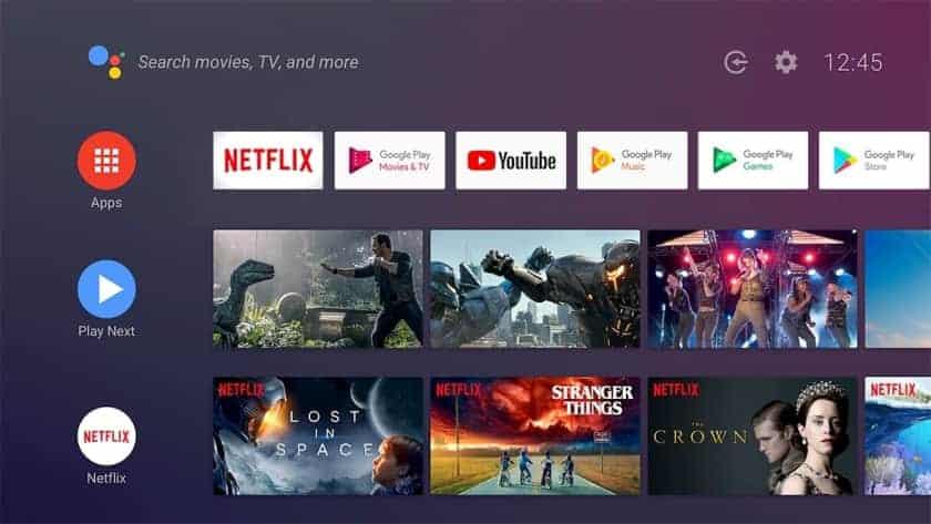 Sistema operativo Android TV 9