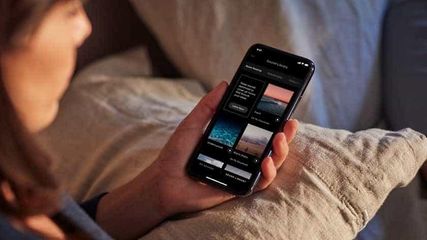Librería de sonido relajantes en app Bose Sleep