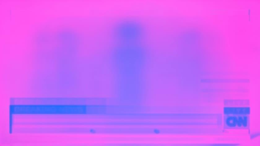 Efecto marcado de pantalla en un televisor
