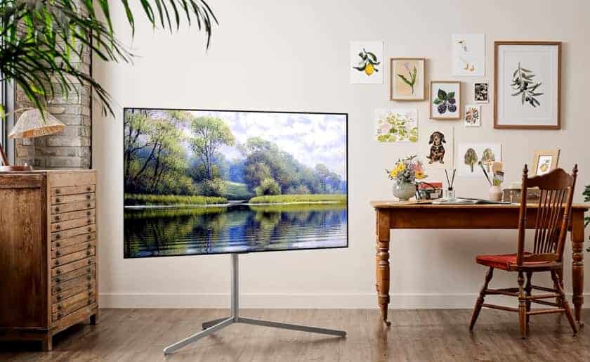 TV LG OLED G1 con soporte Gallery Stand