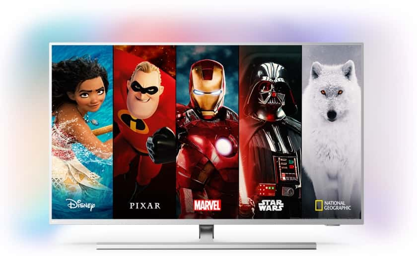 Disney + en Philips PUS8505 Android TV