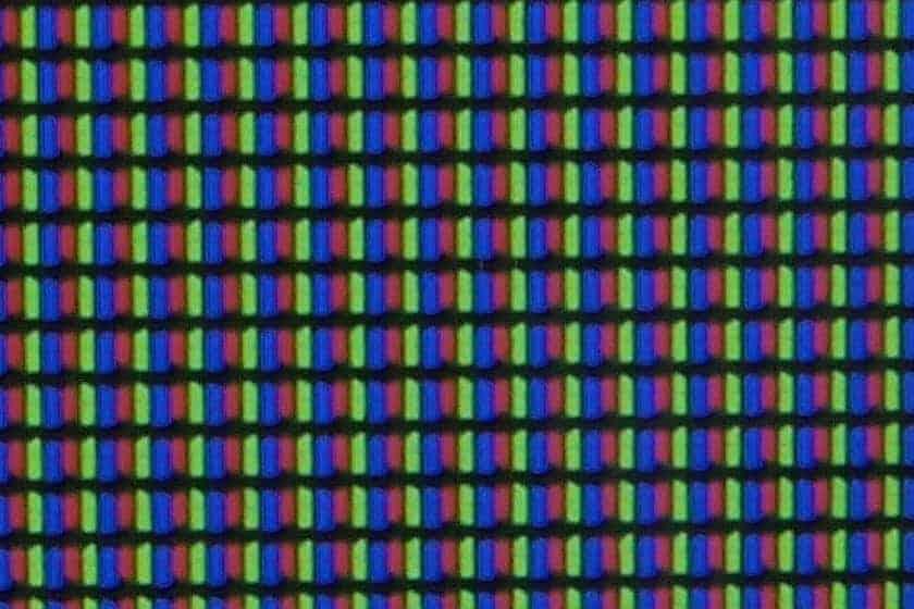 Estructura de píxeles panel LG UN81006
