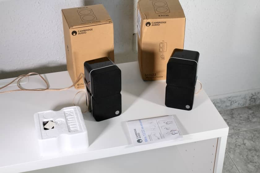 Altavoces Cambridge Audio Minx Min 22 unboxing