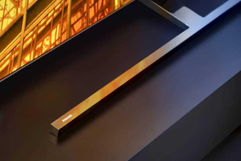 Diseño del soporte del TV Philips OLED855