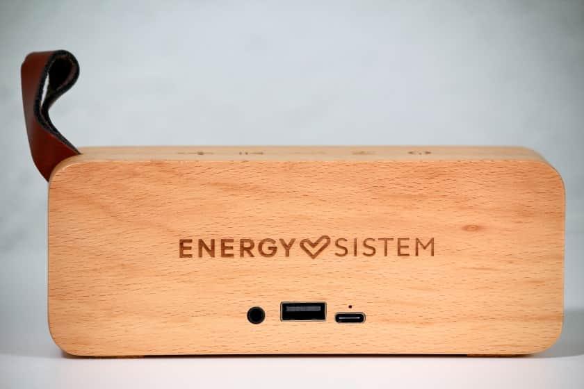 Conexiones del altavoz Energy Sistem Beech Wood