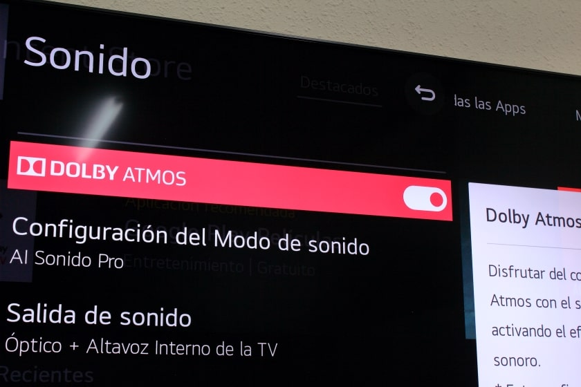 Sonido Dolby Atmos