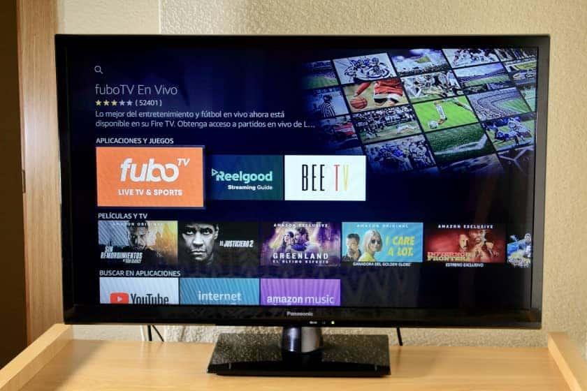 Descargando fuboTV en Amazon Fire TV